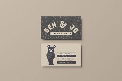 Cartes de visites pour Ben & Jo