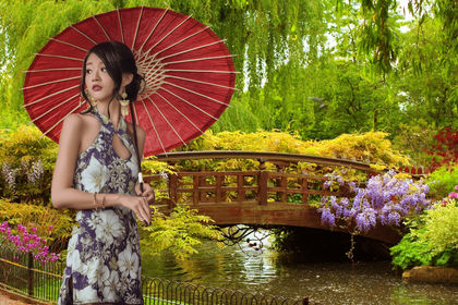 La femme du jardin
