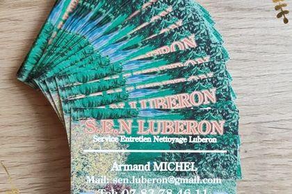 Cartes de visite SEN Luberon