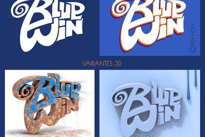 Variante d'un logo ( titre ) en 2D et 3D