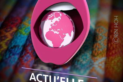 Version 3D de mon logo Actu'Elle