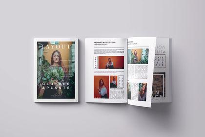 Mise en page - fashion magazine