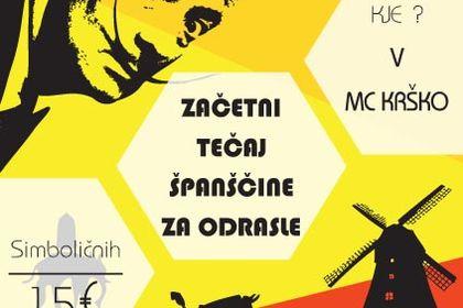 Flyer leçons d'espagnol Mladinski center Krško