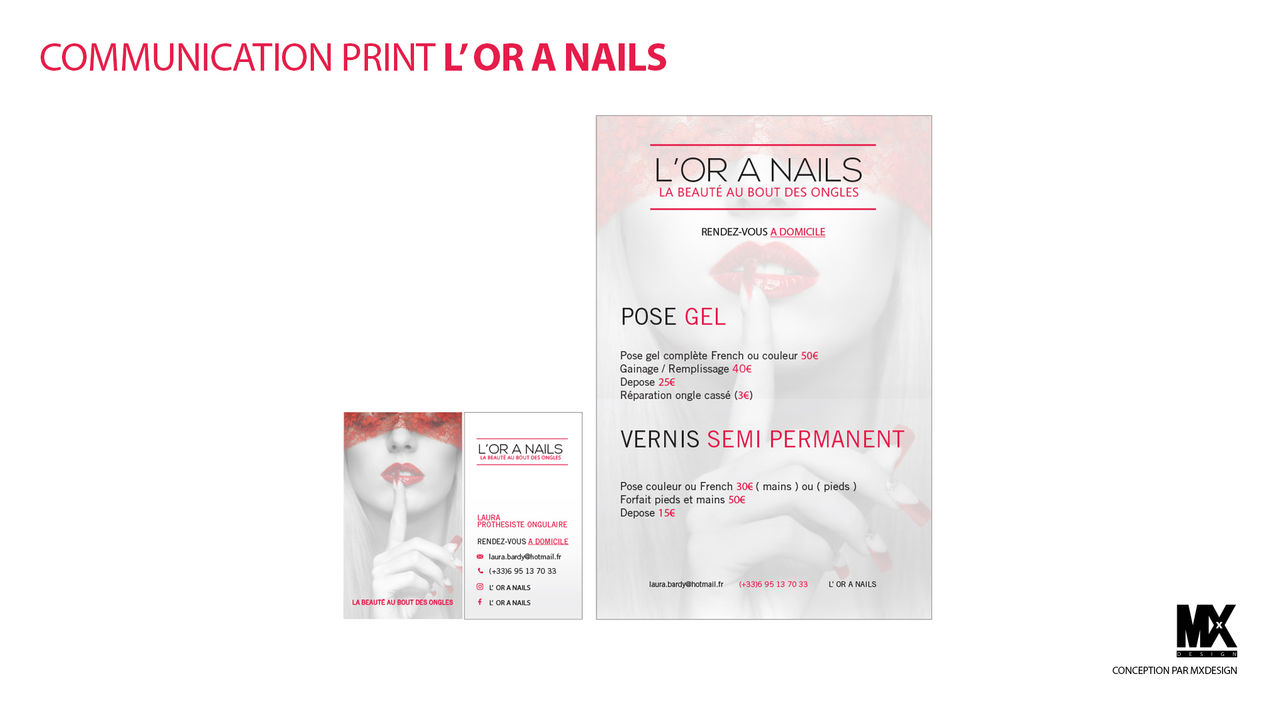 COMMUNICATION PRINT L' OR A NAILS