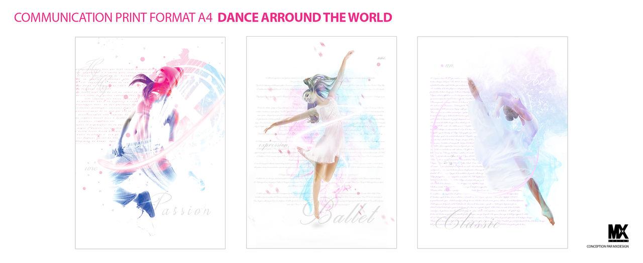 COMMUNICATION VISUEL DANCE ARROUND THE WORLD
