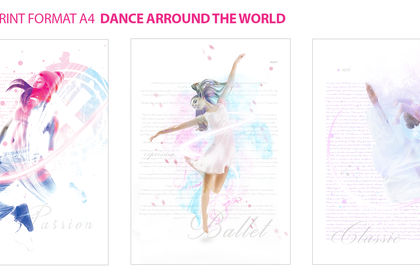 COMMUNICATION VISUEL DANCE ARROUND THE WORLD