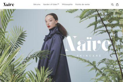 Site web - Naive Skincare