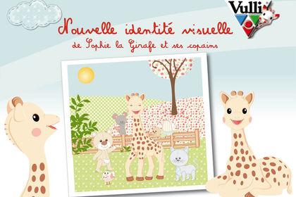 Identité visuel personnage scène Sophie la Girafe