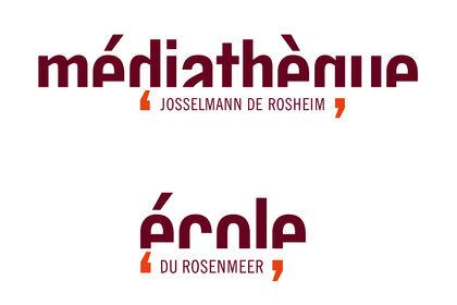 Logos médiathèque et école
