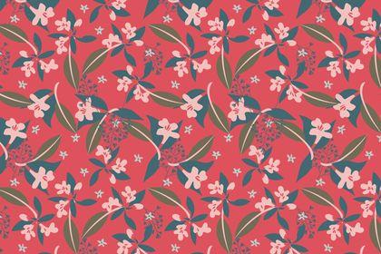 Motif fleuri rouge