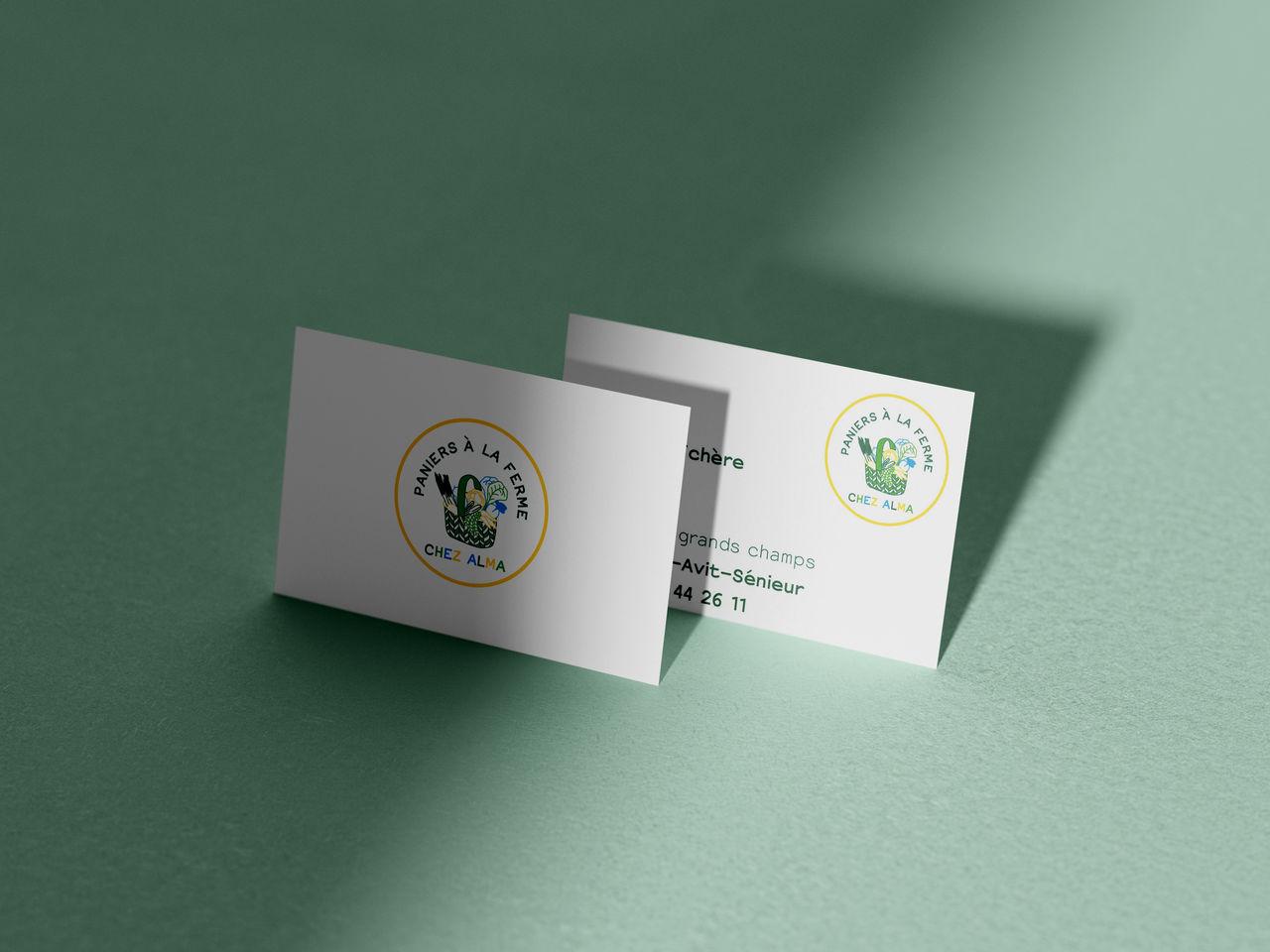 Logo et carte de visite Chez Alma - Légumes