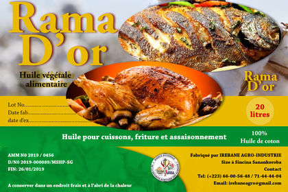 Etiquette huile Rama D'or