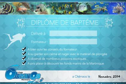 Okeanos - Diplome de baptème