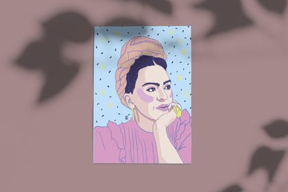 Illustration digitale Frida Kahlo