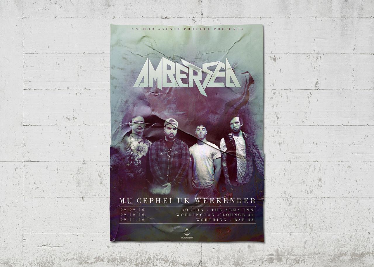"Affiche concerts ""Amber Sea"""