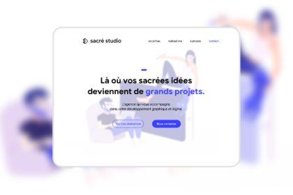 Site vitrine Responsive - Sacré Studio