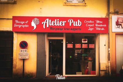 """Enseigne """"Atelier Pub"""""""