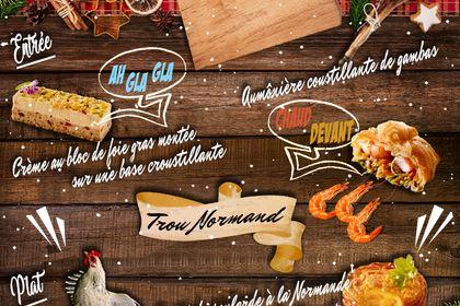 Visuel menu de Noël