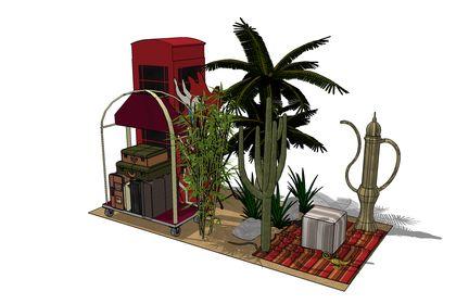 3D zone de décors
