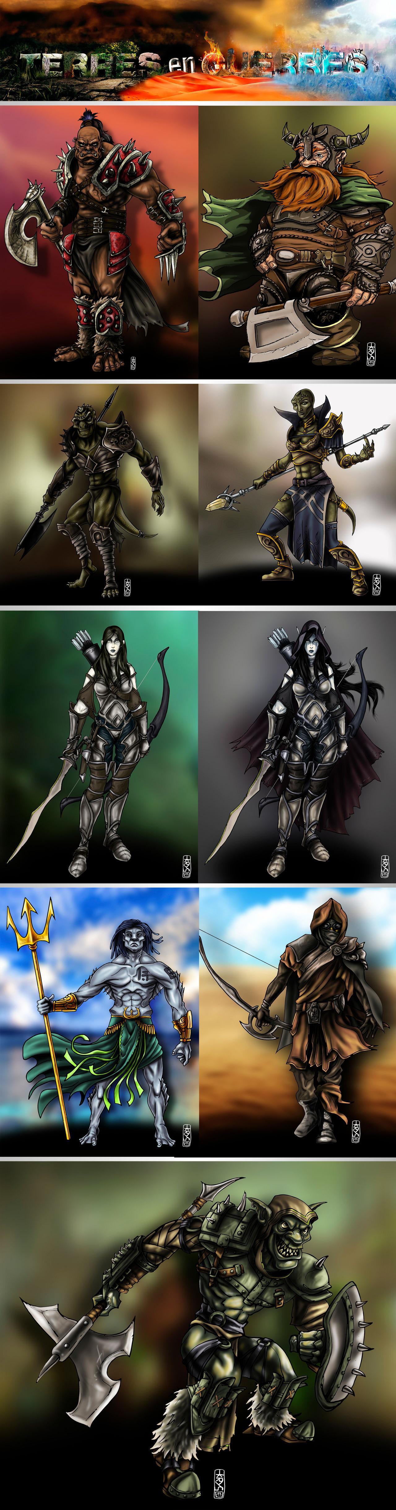 Illustration avatar pour jeux en ligne
