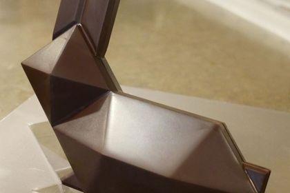Conception 3D lapin chocolat