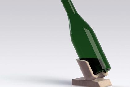 Support Bouteille en pierre - Modélisation 3D