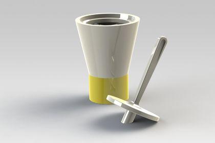 Moutardier en céramique - 3D