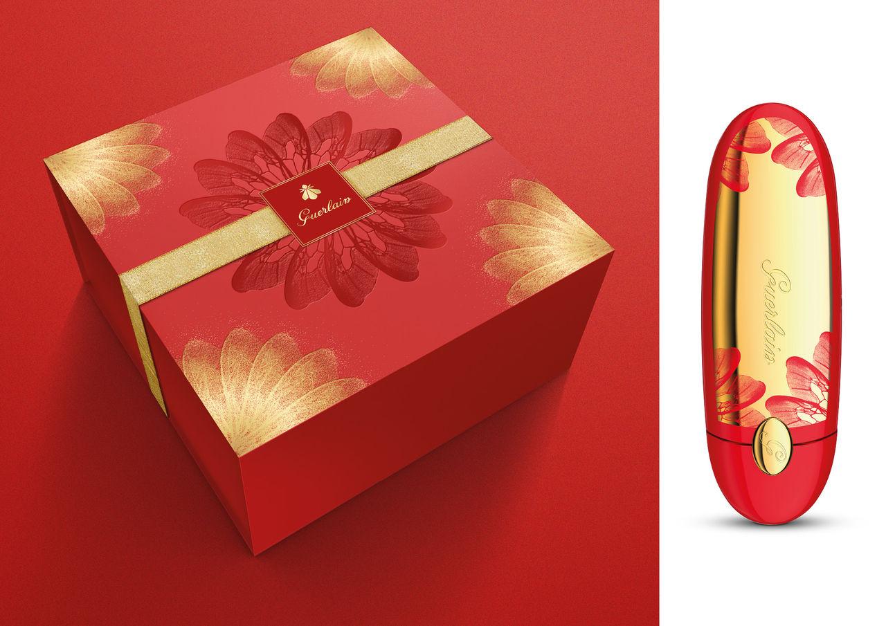 Graphisme packaging - coffret Guerlain