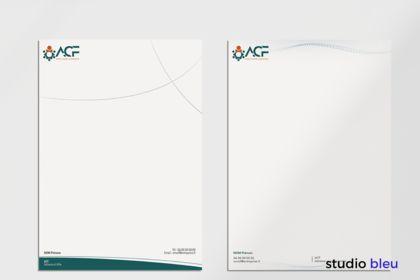 Réalisation de papier entête pour ACF