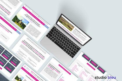 Maquettes web pour Amos