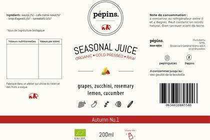 Turito - Étiquette jus de saison
