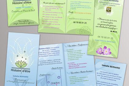 Carte de visite et dépliant - Fleur de bach