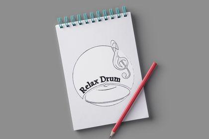 Croquis logo Relax Drum