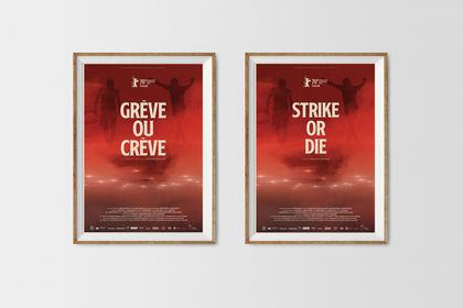 Affiche cinéma - Grève ou Crève