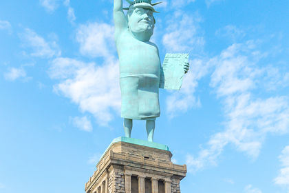 La Statue de la LiberTrump