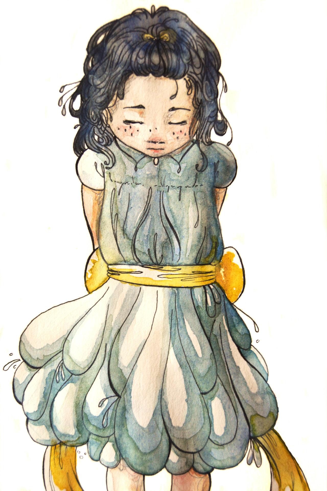 Character design : peinture aquarelle