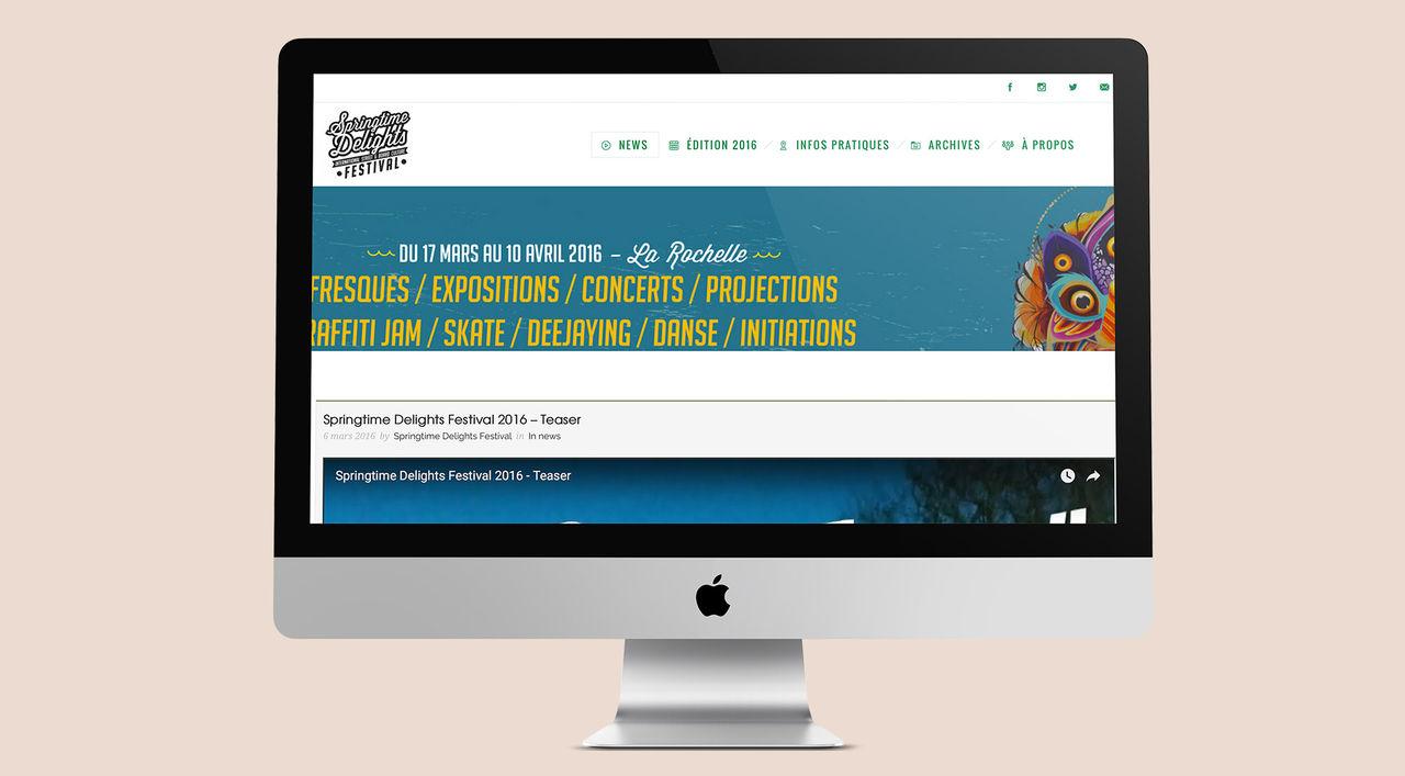 Site Internet du Springtime Delights Festival