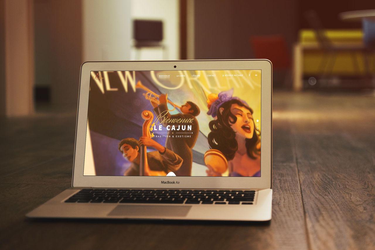 Site internet Le Cajun