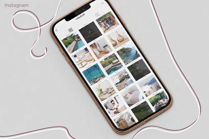 Design de planche Instagram pour villa de luxe