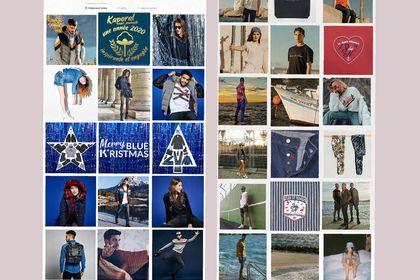 Design de planche Instagram pour marque de jeans