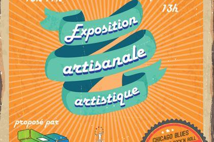 Flyer exposition artistique et artisanal + concert