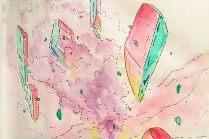 Flying cristal