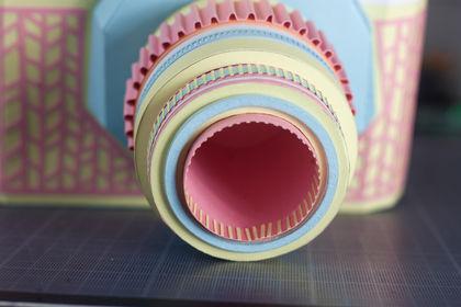 Paper Camera close up