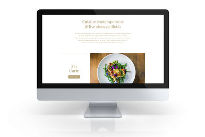 Site internet Paillettes Restaurant