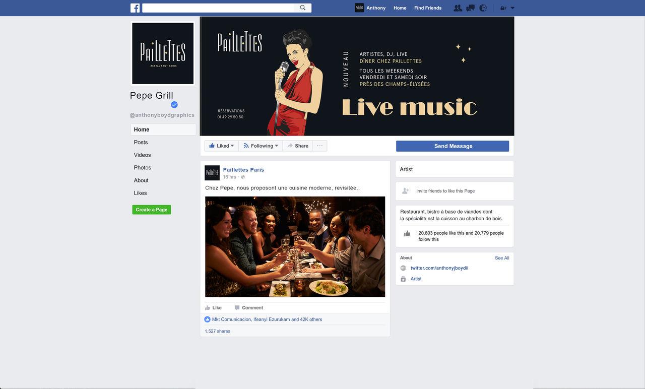 Communication réseaux sociaux Restaurant