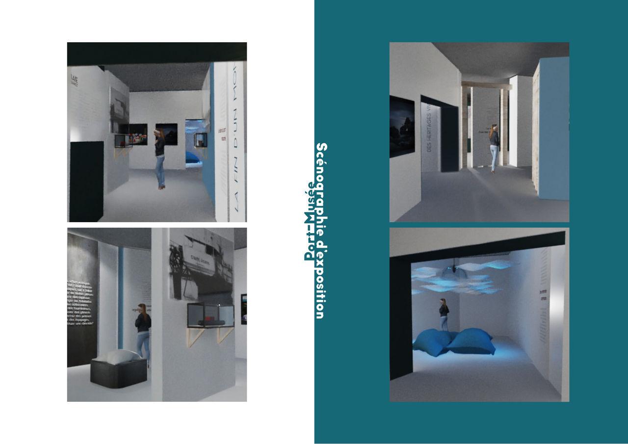 Réalisation 3D Scénographie d'exposition