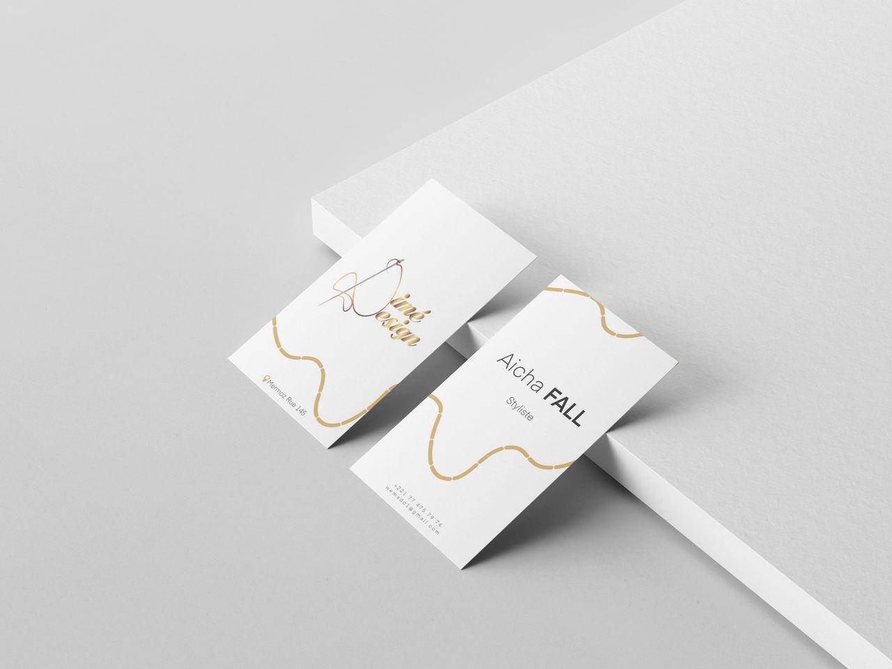 Mockup carte de visite minimaliste