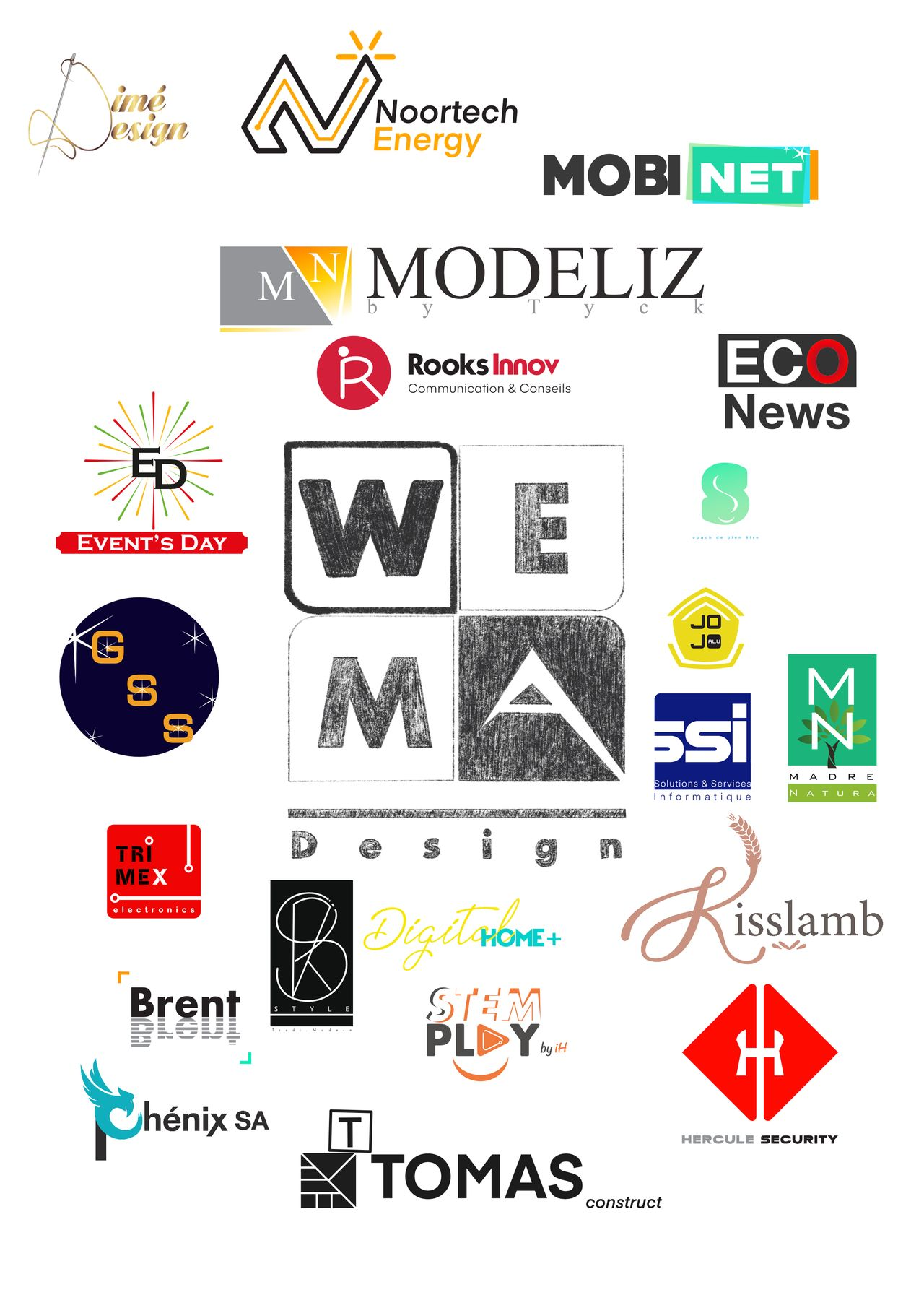 WEMA design logo portfolio