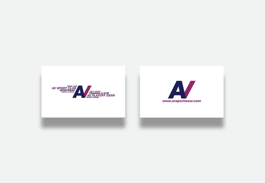 Cartes de visite pour AV Sportwear & Club