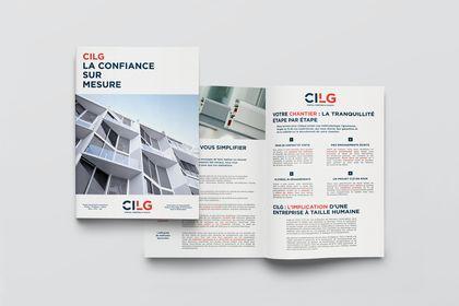 Brochure promotionnelle pour CILG Construction